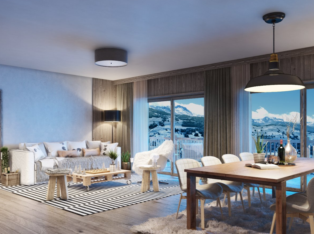New 2 Bedroom Apartment Valmorel